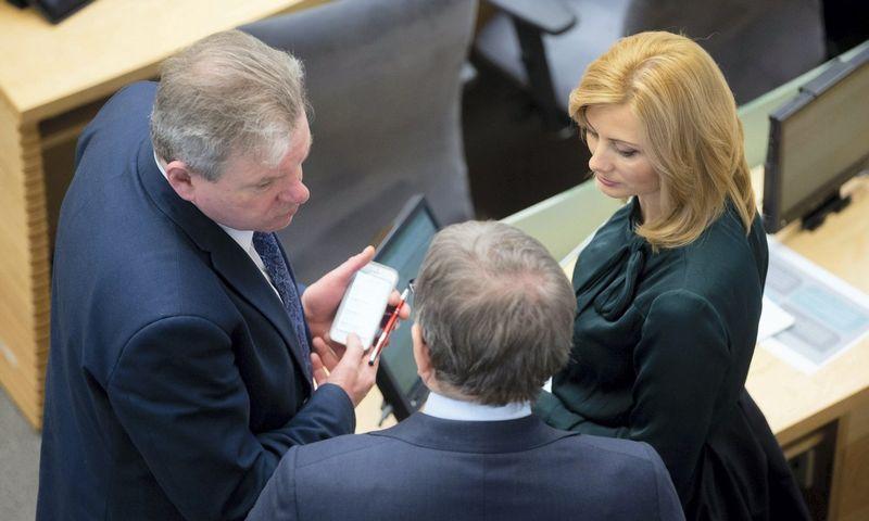 J. Narkevičius dabar jau siūlomas į susisiekimo ministrus, R. Tamašunienė - į vidaus reikalų. Žygimanto Gedvilos (15min.lt) nuotr.