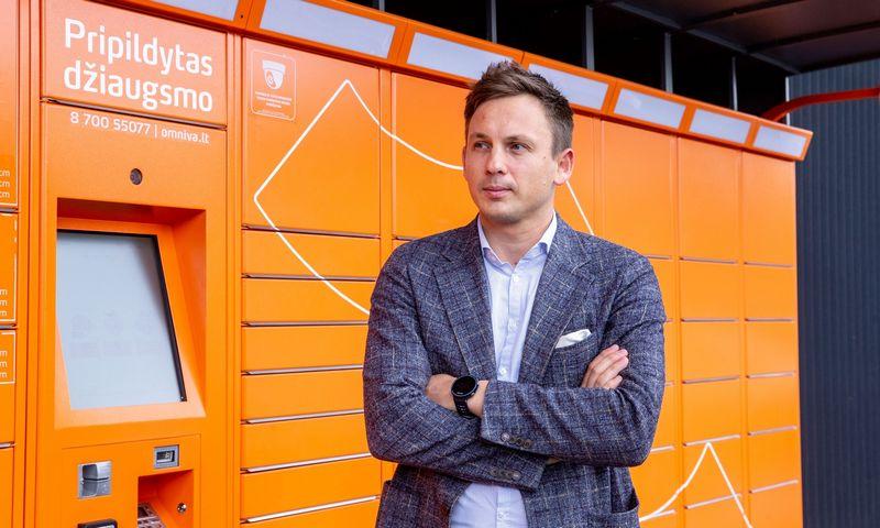 """Simonas Bielskis, """"Omniva LT"""" vadovas: """"Augant e. komercijai, siuntų užteks visiems."""" Juditos Grigelytės (VŽ) nuotr."""