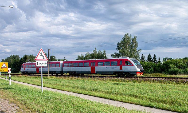 """Keleivinis """"Lietuvos geležinkelių"""" traukinys. Juditos Grigelytės (VŽ) nuotr."""