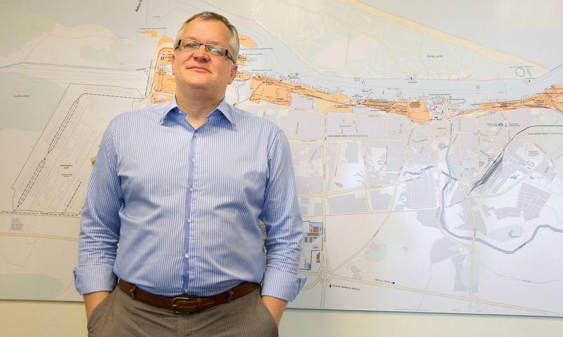 """Eimantas Kiudulas, Klaipėdos LEZ valdymo įmonės generalinis direktorius: """"Jei pas mus ateina kelios didesnės pramonės įmonės – su pora tokių šiuo metu kaip tik deramės, – visos tos erdvės gali būti gana greitai išsemtos."""" Algimanto Kalvaičio nuotr."""