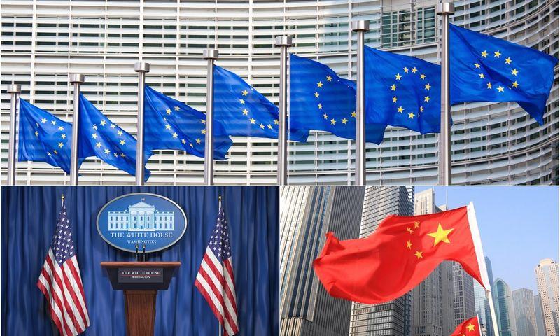 """Nors jos technologijų sektorius ir silpnesnis, trečia didžioji pasaulinė galia – ES – irgi turi ambicijų tapti taisyklių kūrėja. """"Matton"""" nuotr."""