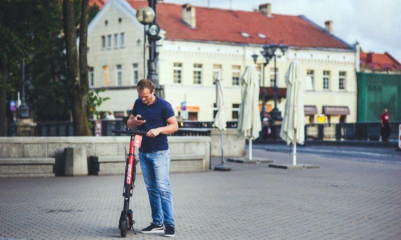 Klaipėdoje ir Palangoje iš viso bus 100 paspirtukų. Bendrovės nuotr.