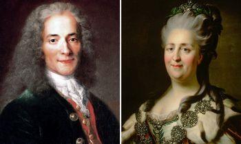 Iliustruotoji istorija: Jekaterina II ir Voltaire'as buvo susirašinėjimo draugai