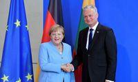 """G. Nausėda ir A. Merkel aptarė Astravo AE ir """"Nord Stream 2"""""""