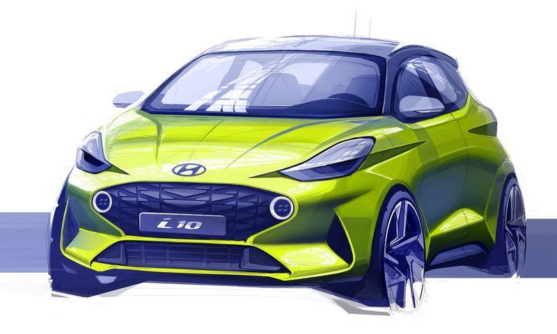 """Iš pirmojo """"i10"""" atvaizdo galima spręsti, kad mažiausio markės modelio stilius bus ryškus. """"Hyundai Motor"""" nuotr."""