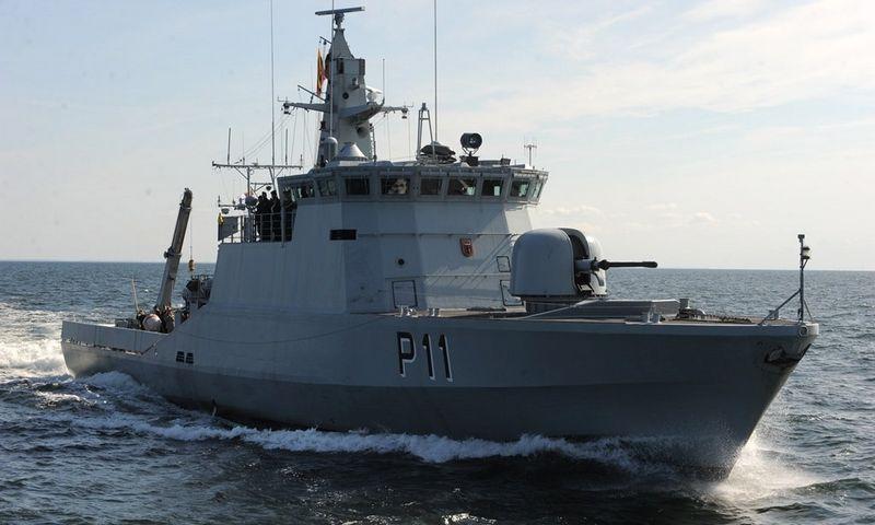 """Patrulinis laivas """"P11 """"Žemaitis"""". Baltijos pažangių technologijų instituto ir Karinių jūrų pajėgų nuotr."""