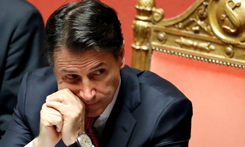 """Giuseppe Conte, Italijos premjeras. Yara Nardi """"Reuters"""" /""""Scanpix"""" nuotr."""