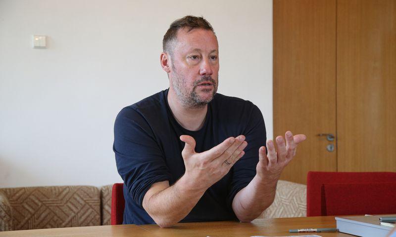 """Peteris Swinnenas, belgų architektas, projekto """"Vilnius Connect"""" kūrybinių dirbtuvių kuratorius. Vladimiro Ivanovo (VŽ) nuotr."""