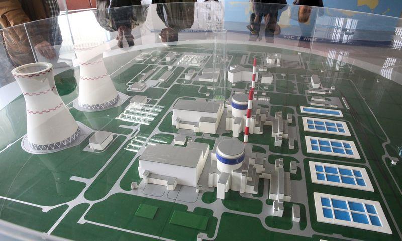 Statomos Astravo atominės elektrinės maketas. Vladimiro Ivanovo (VŽ) nuotr.