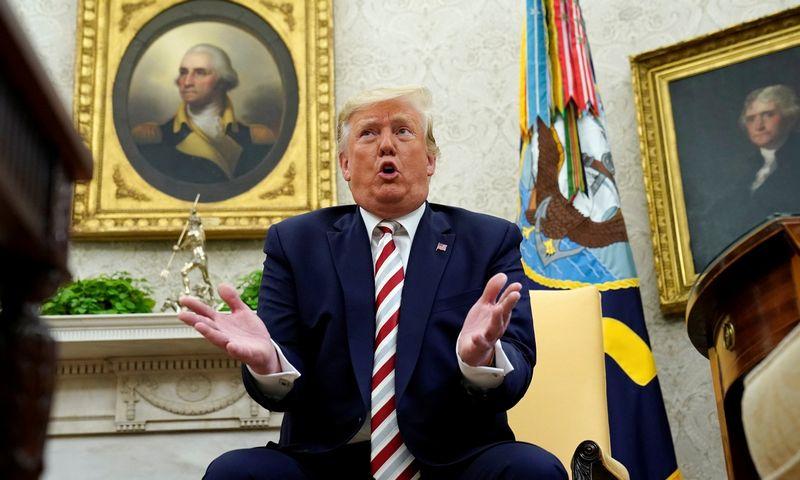 """Donaldas Trumpas, JAV prezidentas. Kevino Lemarque'o (""""Reuters"""") nuotr."""