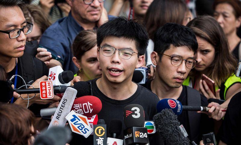 "Joshua Wong. Isaac Lawrence (AFP / ""Scanpix"") nuotr."
