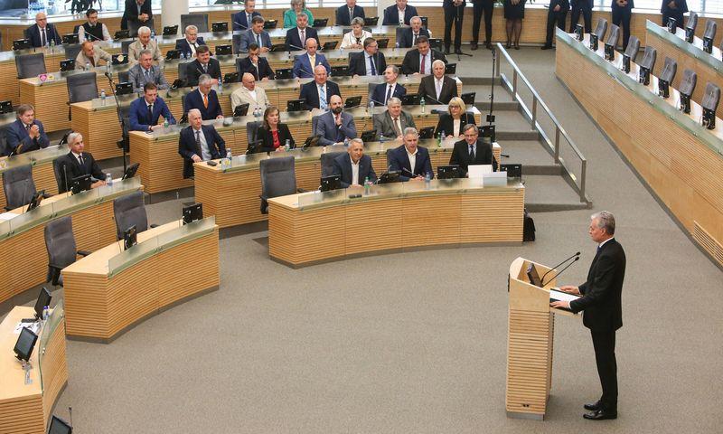 Prezidentas Gitanas Nausėda per pirmąjį kadencijos mėnesį vetavo jau keturis Seimo priimtus įstatymus. Vladimiro Ivanovo (VŽ) nuotr.