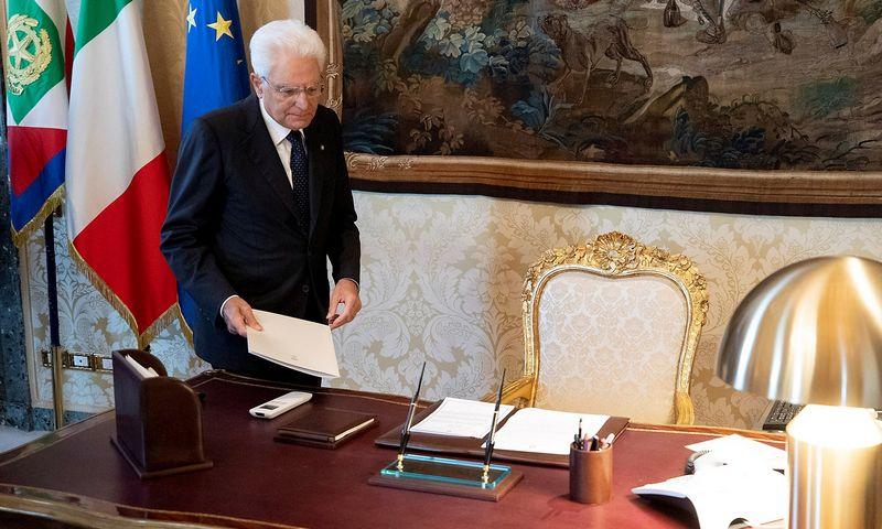 "Sergio Mattarella, Italijos prezidentas. Paolo Giandotti (""Reuters"" / ""Scanpix"") nuotr."
