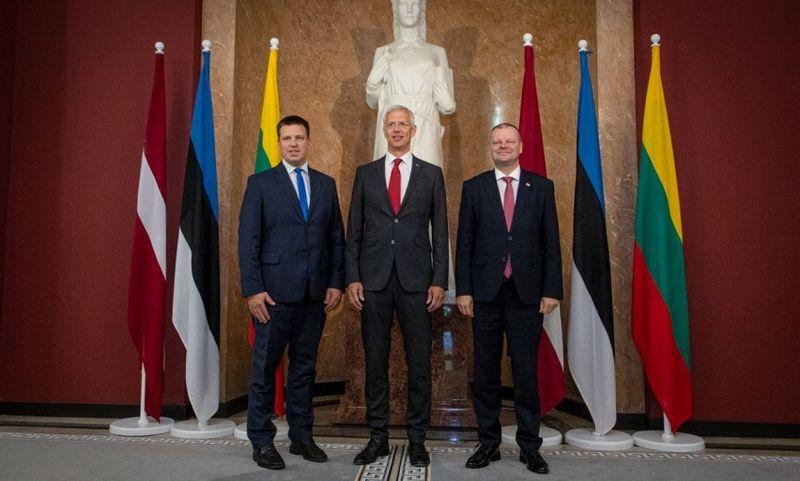 Estijos, Latvijos ir Lietuvos premjerai Jüris Ratas, Krišjanas Karinis ir Saulius Skvernelis penktadienį susitiko Rygoje. LRVK nuotr.