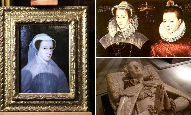 Škotijos karaliaus dukra Marija Stiuart (1542–1568). VŽ koliažas.