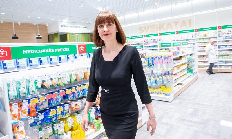 """Ingrida Damulienė, vaistinių tinklo """"Eurovaistinė"""" valdybos pirmininkė. Juditos Grigelytės (VŽ) nuotr."""