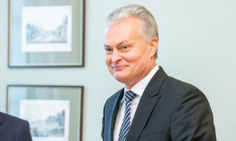 Prezidentas Gitanas Nausėda susitinka su koalicijos sutartį pasirašiusių partijų vadovais. Juditos Grigelytės (VŽ) nuotr.