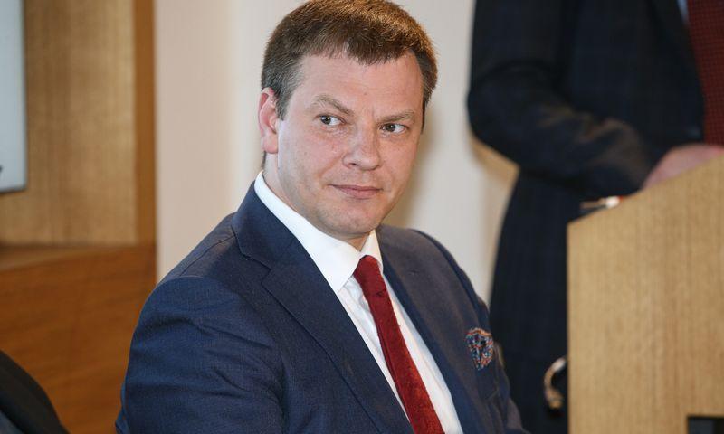 Vilius Šapoka, finansų ministras, pabrėžia, kad biudžetinės prognozės kitiems metams kol kas labai konservatyvios. Vladimiro Ivanovo (VŽ) nuotr.
