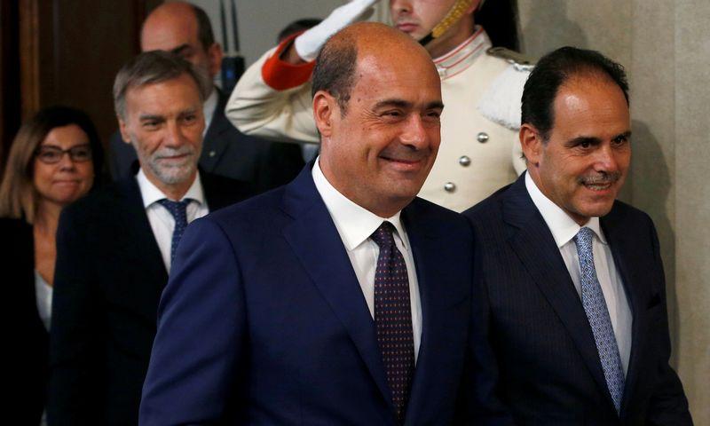 "Nicola Zingarettis, Italijos Demokratų partijos vadovas. Ciro de Luca (""Reuters"" / ""Scanpix"") nuotr."