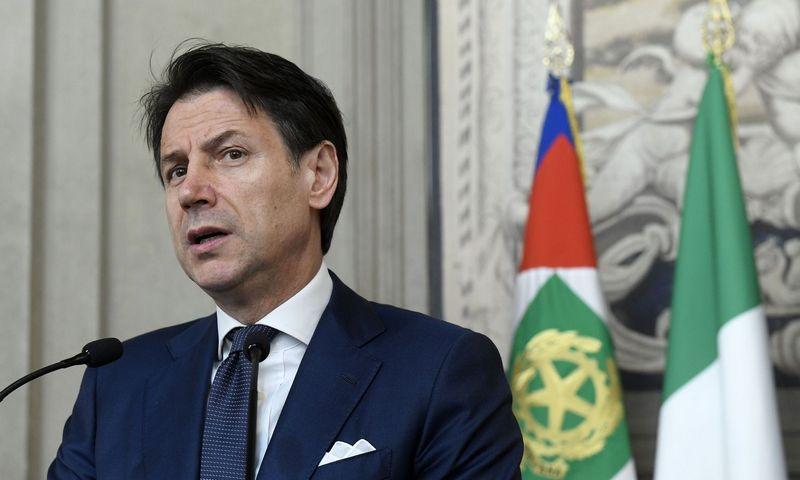 """Giuseppe Conte, Italijos premjeras. Luigi Mistrulli (""""SIPA"""" / """"Scanpix"""") nuotr."""