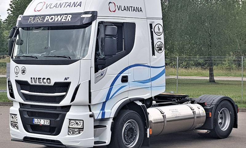 """""""Vlantanos"""" SkGD varomas """"Iveco"""" važinės Vakarų Europoje, kurioje yra jo naudojimui reikiama infrastruktūra. """"Iveco S.p.A."""" nuotr."""