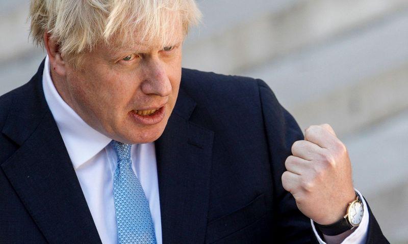 "Borisas Johnsonas, JK premjeras.  Geoffroy Van Der Hasselt  (AFP / ""Scanpix"") nuotr."
