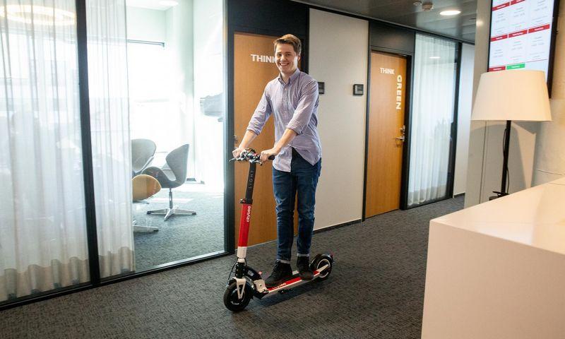 """Lukas Yla, """"CityBee"""" platformos vadovas, tvirtina kitais metais planuojantis daugiau naujovių. Juditos Grigelytės (VŽ) nuotr."""