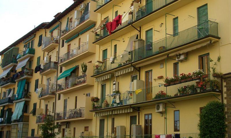 """Daugiabutis Italijoje, Florencijos mieste. """"Commons Wikimedia"""" nuotr."""
