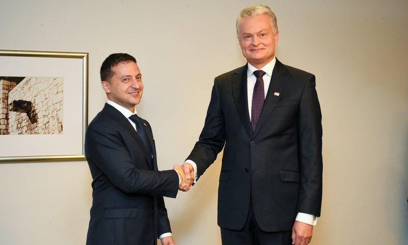 V. Zelensis ir G. Nausėda Varšuvoje. Roberto Dačkaus (LR prezidento kanceliarijos) nuotr.