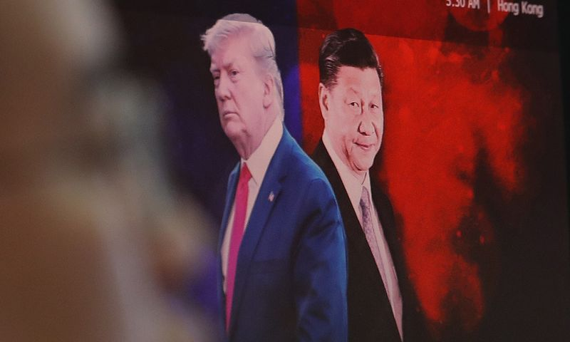 "Donaldas Trumpas, JAV prezidentas, ir Xi Jinpingas, Kinijos prezidentas. Ahn Young-joon (""AP"" / ""Scanpix"") nuotr."