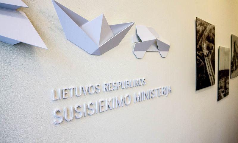 Susisiekimo ministerijos logotipas. Juditos Grigelytės (VŽ) nuotr.