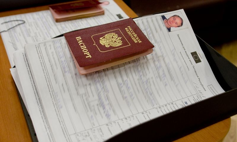 Rusų piliečių pasai. Vladimiro Ivanovo (VŽ) nuotr.