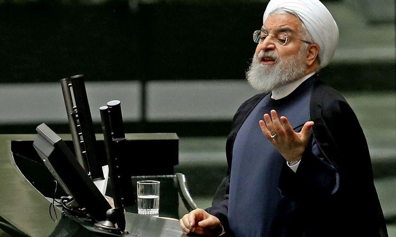"Irano prezidentas H. Rouhani. Atta Kenare (AFP / ""Scanpix"") nuotr."