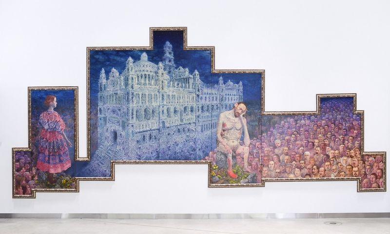 """Š. Sauka. """"Paveikslas Lietuvos vardo tūkstantmečiui"""", 2008 m. MO muziejaus nuotr."""