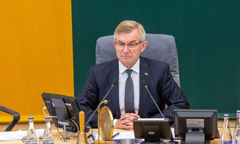 Seimo pirmininkas Viktoras Pranckietis. Juditos Grigelytės (VŽ) nuotr.