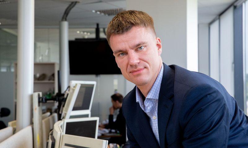 Saulius Nakutis, SEB banko Kapitalo rinkos skyriaus vadovas. Juditos Grigelytės (VŽ) nuotr.