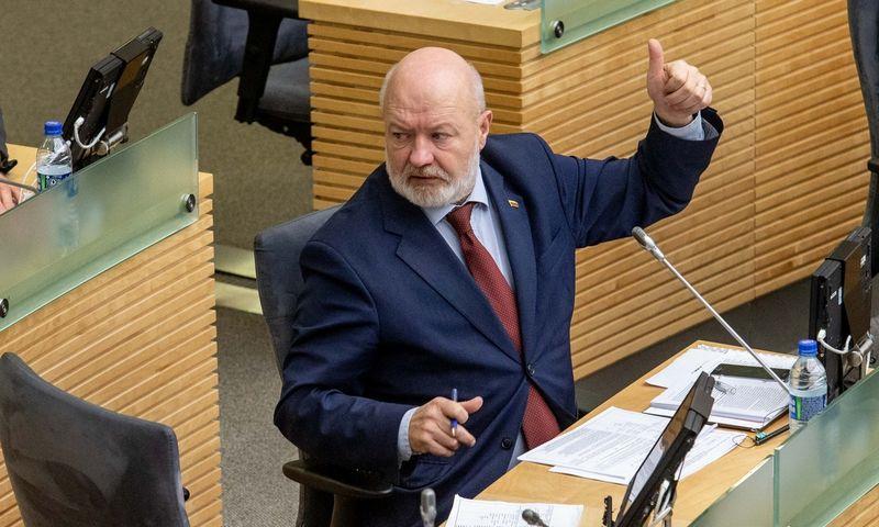 Seimo narys Eugenijus Gentvilas liberalų partijos pirmininko rinkimuose nekandidatuoja. Juditos Grigelytės (VŽ) nuotr.