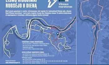 Vilniaus maratonas apribos transporto judėjimą