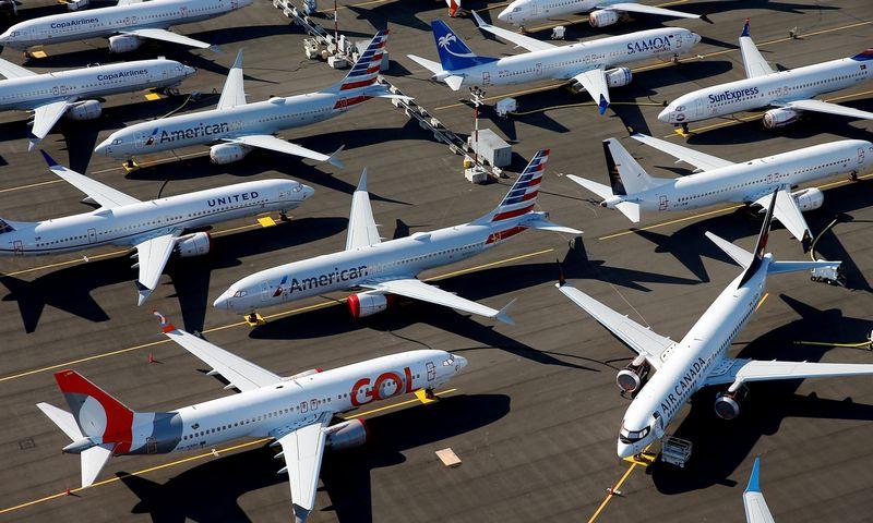 """Boeing 737 Max"" lėktuvai Sietlo oro uoste. Lindsey Wasson (""Reuters"" / ""Scanpix"") nuotr."
