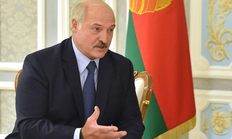 "Baltarusijos prezidentas Aliaksandras Lukašenka. Sergei Gapon (AFP/""Scanpix"" nuotr.)"