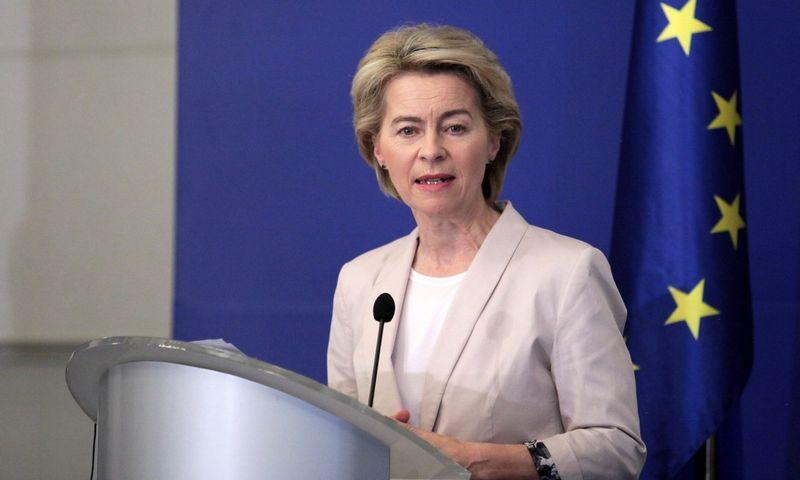 Ursula von der Leyen, paskirtoji naujoji Europos Komisijos pirmininkė. Dimitar Kyosemarliev (Reuters/Scanpix) nuotr.