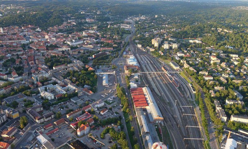 Vilniaus geležinkelio stoties rajonas. Bendrovės nuotr.