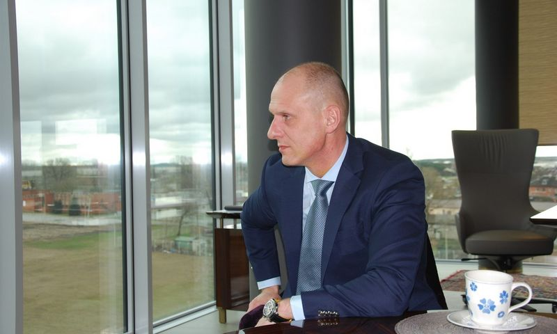 """Vidmantas Dambrauskas, UAB """"Birių krovinių terminalas"""" generalinis direktorius. Mildos Ancevičės (VŽ) nuotr."""