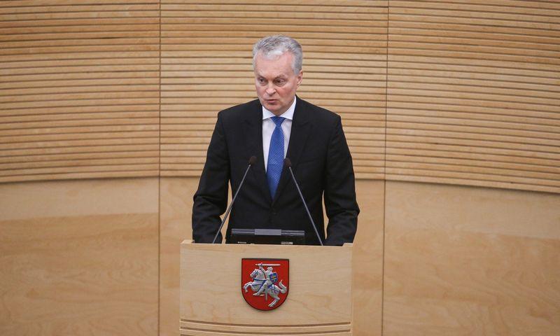 Prezidentas Gitanas Nausėda tikina, kad artėjant Seimo rinkimams neburs savo globojamos partijos. Vladimiro Ivanovo (VŽ) nuotr.