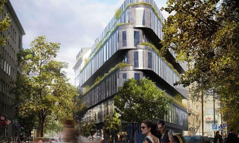 """Varšuvoje planuojamas """"Nobu Hotels"""" viešbutis. Bendrovės vizualizacija."""