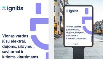 """Startavo """"Ignitis"""", naujojo """"Lietuvos energijos"""" vardo, komunikacijos kampanija"""