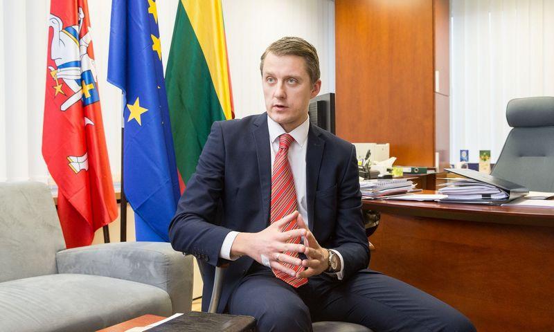 Vyriausybės pasiūlymus Seimo rudens sesijai pristatė premjerą laikinai pavaduojantis Žygimantas Vaičiūnas, energetikos ministras. Juditos Grigelytės (VŽ) nuotr.