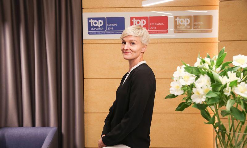 """Asta Sakalauskaitė, UAB """"Philip Morris Baltic"""" žmogiškųjų išteklių ir kultūros vadovė Baltijos šalims, sako, kad 50% samdos proceso sėkmės priklauso nuo to, kiek jame dalyvauja samdantysis vadovas.  Vladimiro Ivanovo (VŽ) nuotr."""