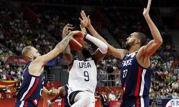 Prancūzija išmetė JAV iš kovos dėl pasaulio čempionato medalių
