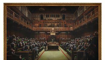 Aukcione – dar vienas Banksy darbas už milijonus